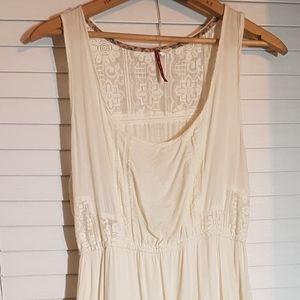 GUC Size L Element cream summer skater dress